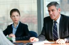 Anna Kendrick and George Clooney.