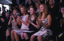 Keri Russell, Joan Allen, Evan Rachel Wood and Erika Christensen in The Upside of Anger.