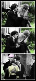 Charlie Chaplin and Edna Purviance in The Vagabond