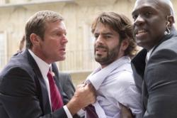 Dennis Quaid, Eduardo Noreiga and Richard T. Jones in Vantage Point.