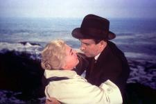 Kim Novak and James Stewart in Vertigo.