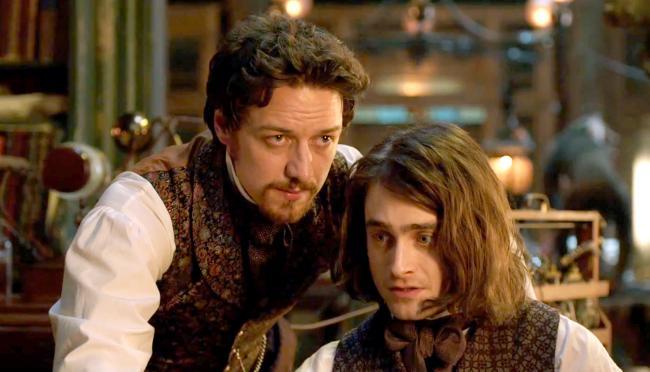 James McAvoy and Daniel Radcliffe in Victor Frankenstein.