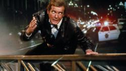 Roger Moore as James Bond one last time thinking,