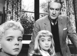 George Sanders and the mysteryious children of Village of the Damned.