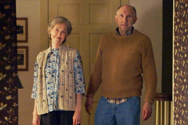 Deanna Dunagan and Peter McRobbie in The Visit.