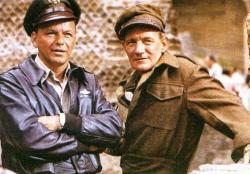 Frank Sinatra and Trevor Howard in Von Ryan's Express.