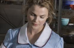 Keri Russell in Waitress.