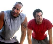 Dwayne Johnson and Johnny Knoxville in Walking Tall.