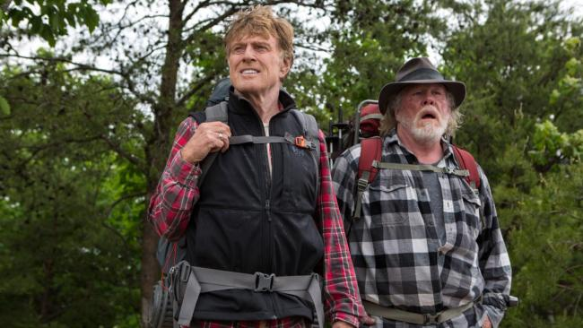 Robert Redford and Nick Nolte go for A Walk in the Woods.