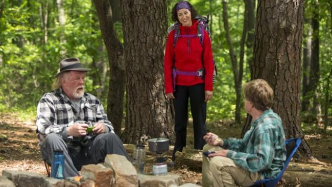 Nick Nolte, Kristen Schaal and Robert Redford in A Walk in the Woods