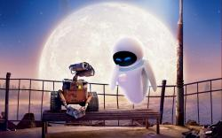 WALL-E and EVA in WALL-E.