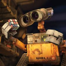 Wall-E and his Rubiks Cube.