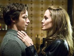 James McAvoy and Angelina Jolie in Wanted.