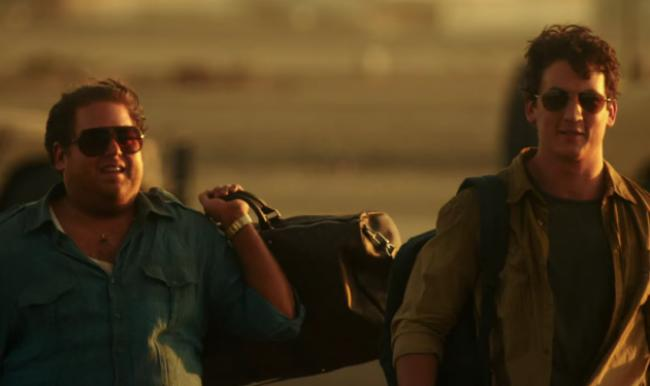 Johah Hill and Miles Teller in War Dogs.