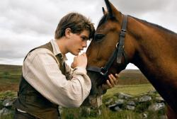 Jeremy Irvine and Joey the War Horse.