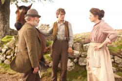 Peter Mullan, Jeremy Irvine and Emily Watson in Warhorse