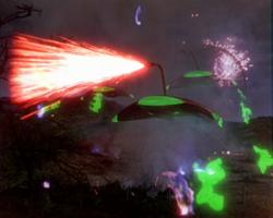 The iconic Martian War Machines in The War of the Worlds.