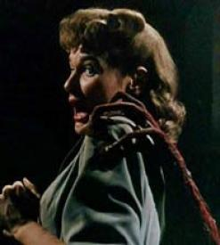 Ann Robinson meets a Martian in The War of the Worlds.