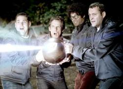 Jonah Hill, Ben Stiller, Richard Ayoade and Vince Vaughn in The Watch