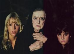 Lynn-Holly Johnson, Bette Davis and Kyle Richards in The Watcher in the Woods.