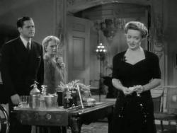 George Coulouris, Geraldine Fitzgerald and Bette Davis in Watch on the Rhine