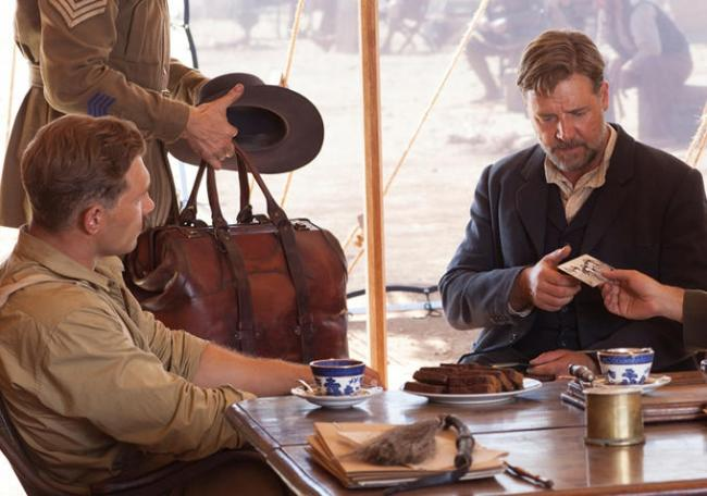 Jai Courtney and Russell Crowe in The Water Diviner