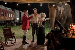 Christoph Waltz, Robert Pattinson, and Reese Witherspoon in Water for Elephants.