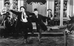 Laurel and Hardy in Way Out West.