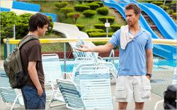 Liam James and Sam Rockwell in The Way, Way Back.