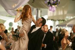 Isla Fisher and Vince Vaughn and Wedding Crashers.