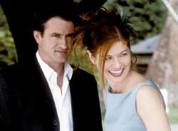 Dermot Mulroney and Debra Messing in The Wedding Date.