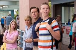 Emma Roberts, Jennifer Aniston, Jason Sudeikis and Will Poulter as the Millers.