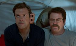 Jason Sudeikis and Nick Offerman in We're the Millers.