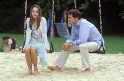 Amanda Bynes and Colin Firth in What a Girl Wants.