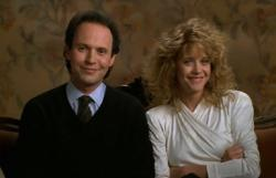 Billy Crystal and Meg Ryan in When Harry Met Sally.