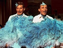Danny Kaye and Bing Crosby in White Christmas.