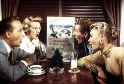 Bing Crosby, Rosemary Clooney, Vera-Ellen, and Danny Kaye in White Christmas.