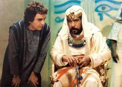 Dudley Moore and Richard Pryor in Wholly Moses.