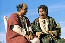 James Coco and Dudley Moore in Wholly Moses