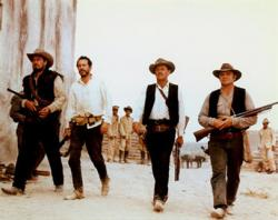 Edmond O'Brien, Warren Oates, William Holden and Ernest Borgnine in The Wild Bunch.