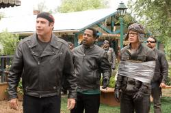 John Travolta, Martin Lawrence and William H. Macy in Wild Hogs.