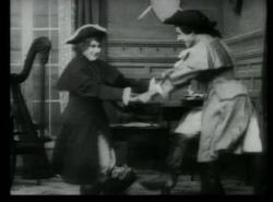 Mary Pickford dresses as a man in Wilful Peggy.