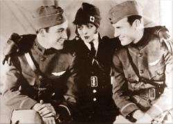 Buddy Rogers, Clara Bow and Richard Arlen in Wings.