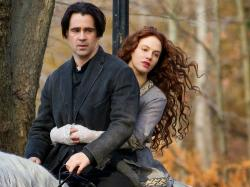 Colin Farrell and Jessica Brown Findlay in Winter's Tale.