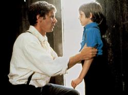 Harrison Ford and Lukas Haas in Witness.