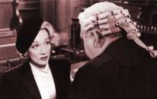 Marlene Dietrich and Charles Laughton square off.