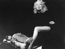 Tyrone Power and Marlene Dietrich in a publicity still for Witness for the Prosecution