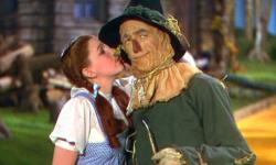 Judy Garland and Ray Bolger in The Wizard of Oz.