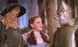 Ray Bolger, Judy Garland and Jack Haley in The Wizard of Oz.