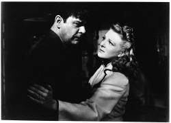 Lon Chaney Jr. and Evelyn Ankers in The Wolf Man.